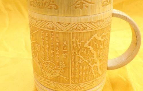 竹制工艺品打标